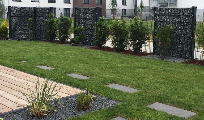 gabionen und pflanzen terrasse sichtschutz pflanzen garten sichtschutz moderner garten neu. Black Bedroom Furniture Sets. Home Design Ideas